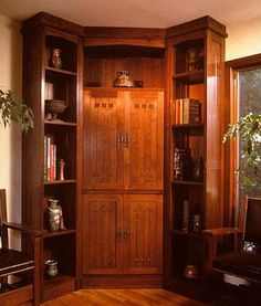 Hand Made Gustav Stickley Library by DeRosso Finishing Co. Inc. | CustomMade.com