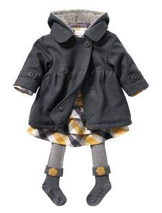 67f79ce0bc0004 Baby Girl Coat YELLOW MEDIUM SOLID+GREY MEDIUM SOLID Baby Girl Princess
