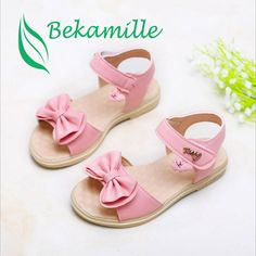 Cheap children shoes for girl, Buy Quality shoes for girls directly from China girls summer sandals Suppliers: 2017 New Children's Shoes for Girls Sandals Bow Knot Flat Heels Toddler Girl Summer Sandals Anti-slippery Beach Shoes 330 Baby Girl Sandals, Kids Sandals, Baby Girl Shoes, Open Toe Sandals, Summer Sandals, Cute Girl Shoes, Little Girl Shoes, Kid Shoes, Girls Shoes