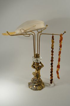 Vintage Hat Rack Jewelry Stand Necklace by AcostaArtAndDesign, $78.00