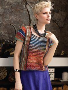 15 – Multidirectional Cap Sleeve Top | Knitting Fever Yarns & Euro Yarns