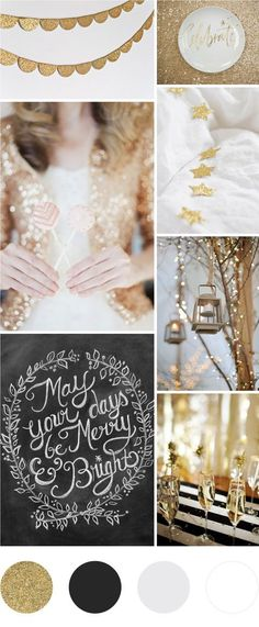 Gold and Black Christmas Moodboard