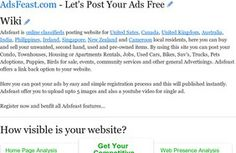 AdsFeast.com - Let's Post Your Ads Free Ads, Let It Be, Free