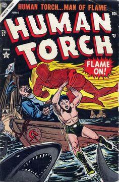 Human Torch # 37 by Carl Burgos