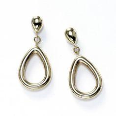 Teardrop Dangle Earrings, 14K Yellow Gold
