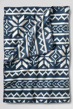 ThermaCheck® Printed Fleece Throw from Lands' End
