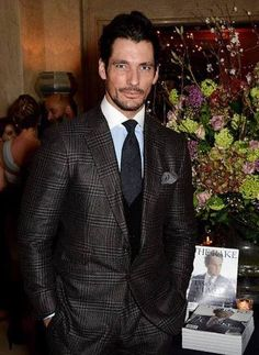 David Gandy attends The Rake Magazine Party therakemagazine at The Claridge's Hotel for the launch of LC:M January 8, 2015