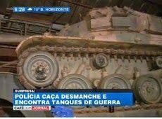 Galdino Saquarema Noticia: Polícia encontra tanque de guerra em desmanche de carro