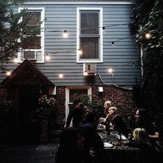 Food, friends, outdoor lighting, outdoor seating, outdoor eating, outdoor life. Modern Hepburn