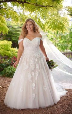 Mermaid Wedding Dress with Rich Beadwork Courtesy of Essense of Australia wedding dresses; Lace Ballgown Plus Size Wedding Dress by Essense of Australia Mermaid Wedding Dress – STwirly Mermaid DressMermaid Style Wedding Dre Essense Of Australia Wedding Dresses, Plus Size Wedding Gowns, Dream Wedding Dresses, Designer Wedding Dresses, Bridal Dresses, Gown Wedding, Lace Wedding Dress Ballgown, Curvy Wedding Dresses, Plus Size Brides