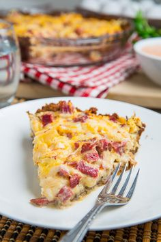 With a bit of luck, or planning, after your St Patrick's Day dinner you will have some leftover corned beef to use in a new dish or two and this reuben quiche is definitely a tasty place to start.