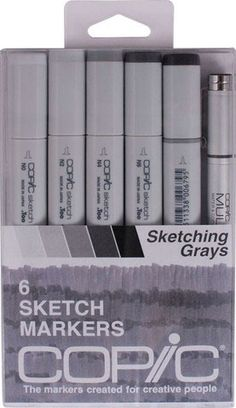 Save On Discount Copic Sketch Markers, Sketching Grays, Set of 6 & More at Utrecht