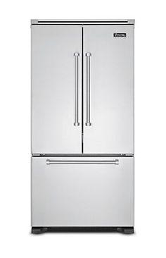 "36"" French-Door Bottom-Freezer Refrigerator (VCFF) in Stainless Steel - Viking Range, LLC"
