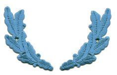 Scrambled Eggs Infantry Blue Embroidered Iron On Patch - Uniforms, Crafts #NA