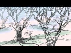 The Helpful Art Teacher: Drawing and painting trees: Light and shadow in an autumn landscape