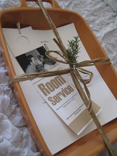 Great Gift!  A Baking Dish and a menu.  Receiver of the gift gives you 48 hours notice of what they would like for their meal and you deliver it!  Cute idea for a baby arrival, newlyweds or just for fun!!