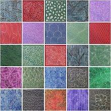Zentangley patchwork quilt
