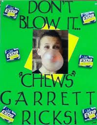 student council posters - Google Search Can also put some gum and peanut chews in a baggie with a little tag with slogan attatched