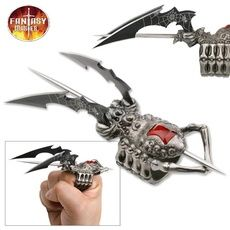 New Fantasy Master Spider Ring ProTactical'US - Limited Edition - Elite Knife with Sharp Blade Black Widow Dual Blade Finger Midi Ring