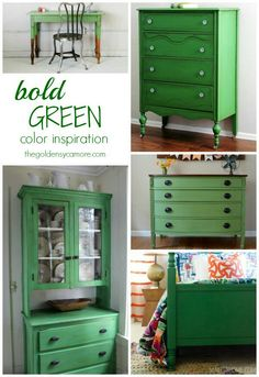 Bedroom Furniture Green kelly green desk makeover. the nester bought the desk for $40