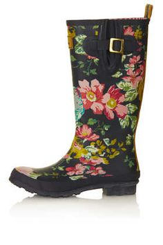 JOULES Floral Print Wellies - Boots - Shoes