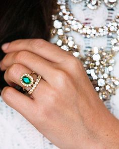 http://rubies.work/0025-emerald-earrings/ Emerald & diamonds set in yellow gold wedding rings | Sarah Vickers: