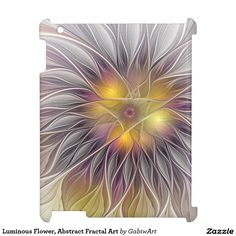 Luminous Flower, Abstract Fractal Art iPad Case