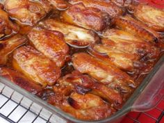 Ingredients 3 lbs chicken wings 2 tablespoons olive oil 1/2 cup soy sauce 2 tablespoons ketchup 1 cup honey 1 garlic clove, minced, to taste 1 pinch salt 1 pinch ground black pepper Directions: 1 Preheat oven to 375°F. 2 Place chicken in a 9×13-inch baking