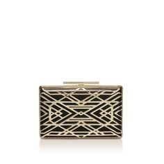 zhara minaudiere black clutch bag from Vince Camuto