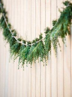 ecofriendly wedding decorations. Green garland. Greenery wedding
