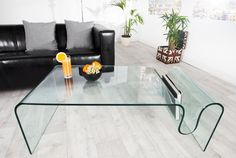 Table basse en verre transparent Ghost 125 cm