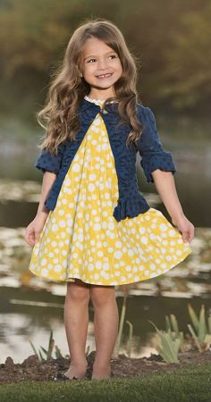 Persnickety's first collection of Spring/Summer 2014, SAIL AWAY! This beautiful yellow print Penny dress is available NOW at www.lustella.com!