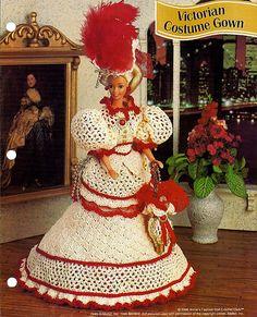 Victorian Costume Gown Crochet Pattern Annies by grammysyarngarden