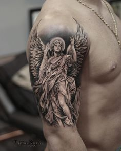 Sky Tattoos, Fan Tattoo, Dope Tattoos, Unique Tattoos, Tattoos For Guys, Angel Tattoo Designs, Tattoo Sleeve Designs, Sleeve Tattoos, Tattoo Design Drawings