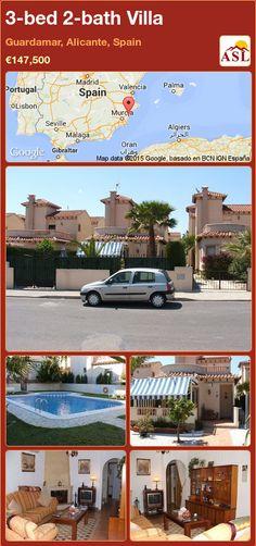 3-bed 2-bath Villa in Guardamar, Alicante, Spain ►€147,500 #PropertyForSaleInSpain