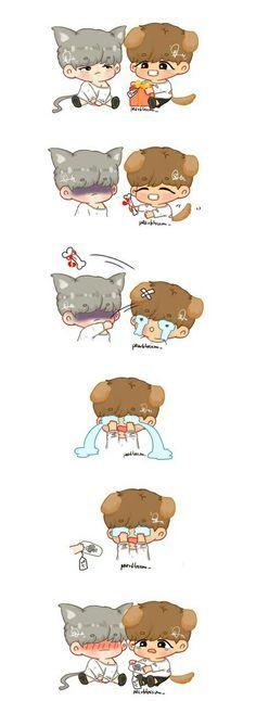 cute suga and taehyung fanart