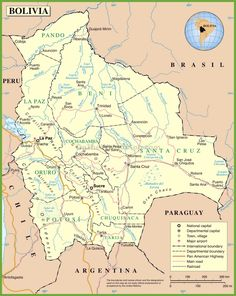 Bolivia road map