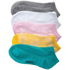 Footwear by Cherokee Women's Enchanted Ankle Socks-5 Pair