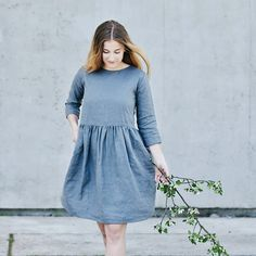 * 100% soft linen * 3/4 sleeve * Pockets * Button opening at the back * Handmade in Slovakia * Please note all items are made to order and dispatch...