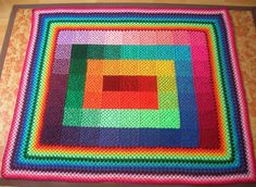 colourful granny square blanket i wish to make some day