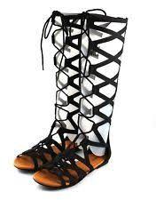 Image result for laser cut lace up Flat Gladiator Sandals c5719fd6864