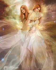 Gemini by patriciabrennan.deviantart.com on deviantART (Digital Art / Photo-manipulation / Fantasy) Zodiac