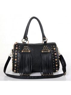 a5b9daddeb3c Studded Tassel Handbag Crossbody Bag