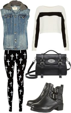 """""""edgy outfit"""" by lexylegassie ❤ liked on Polyvore"""