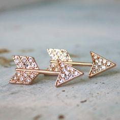 Glittering Arrows Earrings, Women's Bohemian Jewelry on Wanelo Arrow Earrings, Women's Earrings, Diamond Earrings, Jewelry Box, Jewelery, Jewelry Accessories, Howleen Wolf, Garnet And Gold, Bohemian Jewelry