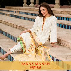 Summer Collection in Pakistan 2014: Faraz Manan Crescent Lawn Collection
