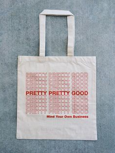 Red print on a 14 1/2 x 15 1/2 6oz Canvas Tote.  Designed and printed by me in Long Beach, California.