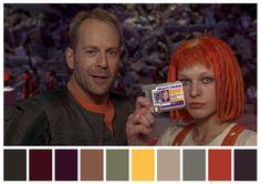 El quinto elemento, Luc Besson, (1997) | 29 Escenas iconicas de películas reducidas a una paleta de color