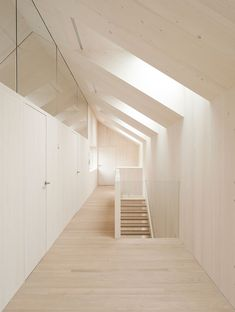 Velux Sunlighthouse is Austria's First Net Zero Energy and Carbon House European Models, Interior Architecture, Interior Design, Space Place, Light And Space, Attic Rooms, Architect Design, Green Building, Sustainable Design