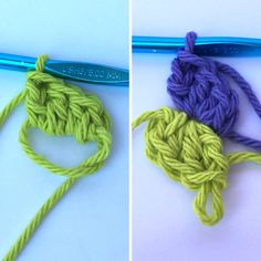 Wondering how to crochet a spiral? This method has you hopping back and forth between two different skeins of yarn as you work double crochets in the round. Spiral Crochet Pattern, Crochet Coaster Pattern, Crochet Blocks, Freeform Crochet, Crochet Stitches, Crochet Round, Crochet For Kids, Double Crochet, Free Crochet